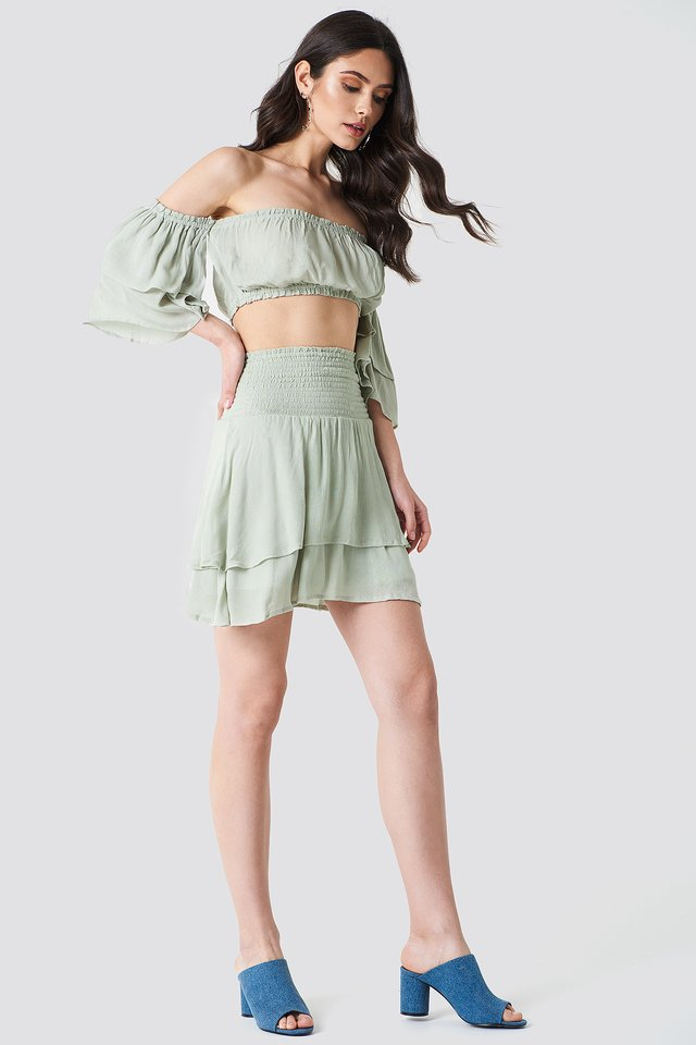 Stylish Crop Top & Shorts Co-Ord
