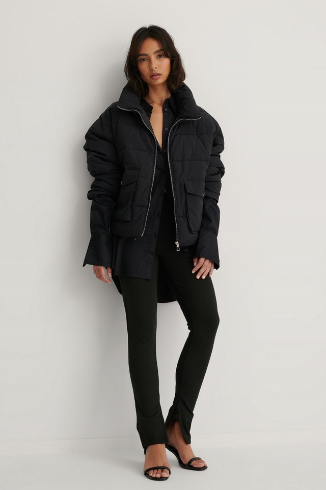Big Pocket Padded Short Jacket