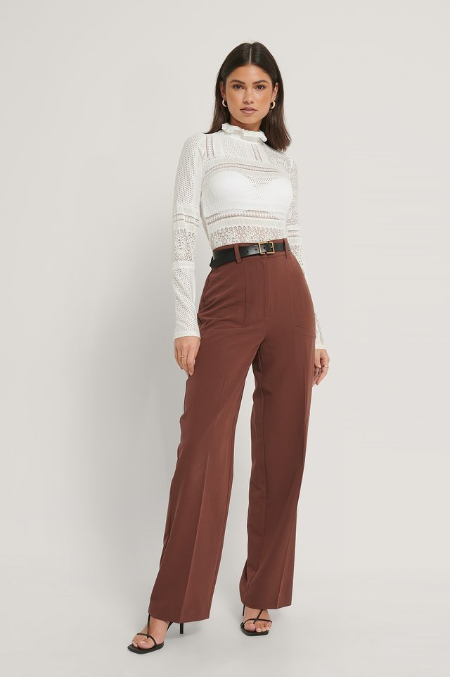Side Pocket Wide Leg Suitpants