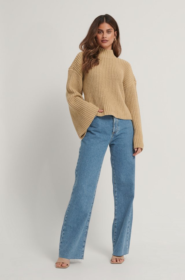 Cut Out Back Knitted Sweater