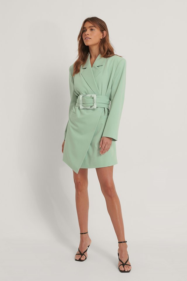 Big Buckle Blazer Dress