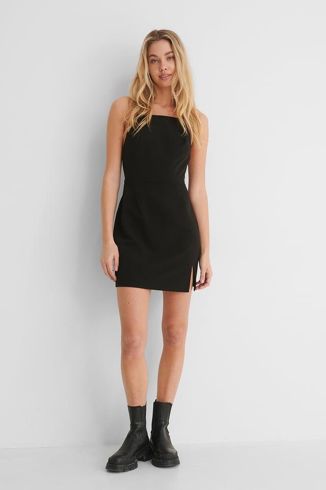 Cross Back Detail Mini Dress