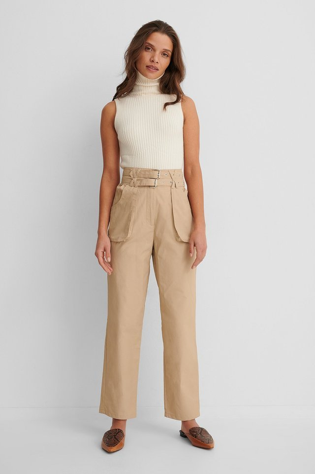 Utility Belted Pants Outfit