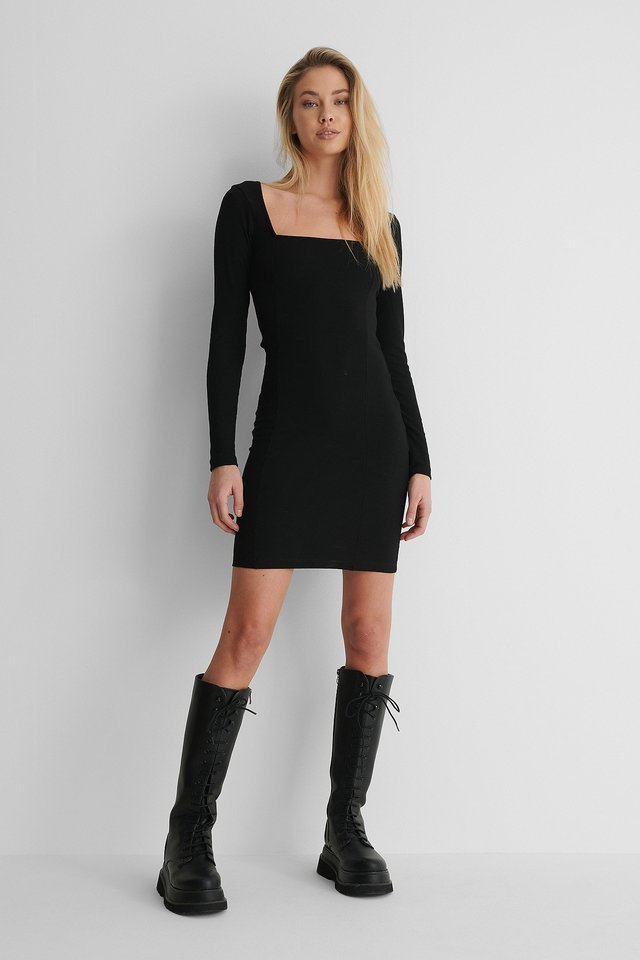 Knot Rib Detail Dress