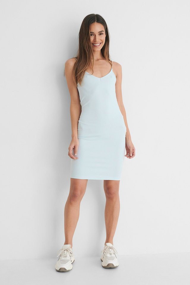 Light Blue Miniklänning