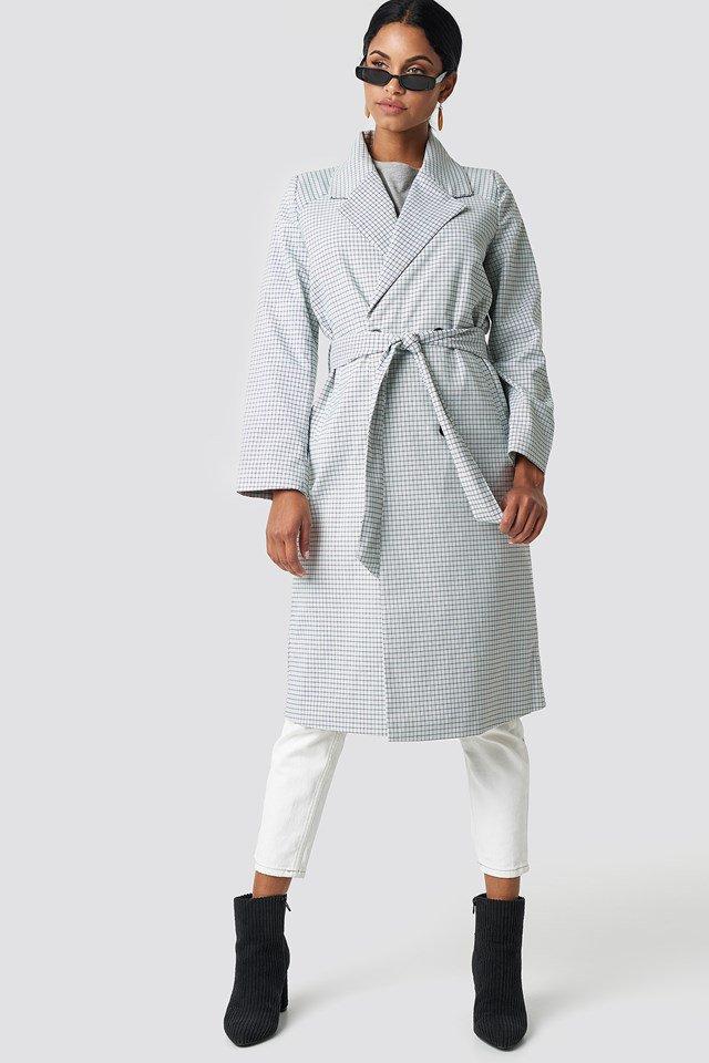 Plaid Long Coat Outfit