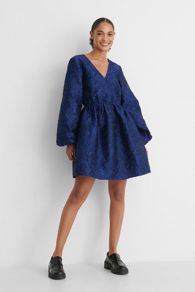 Puff Sleeve Mini Dress Outfit.
