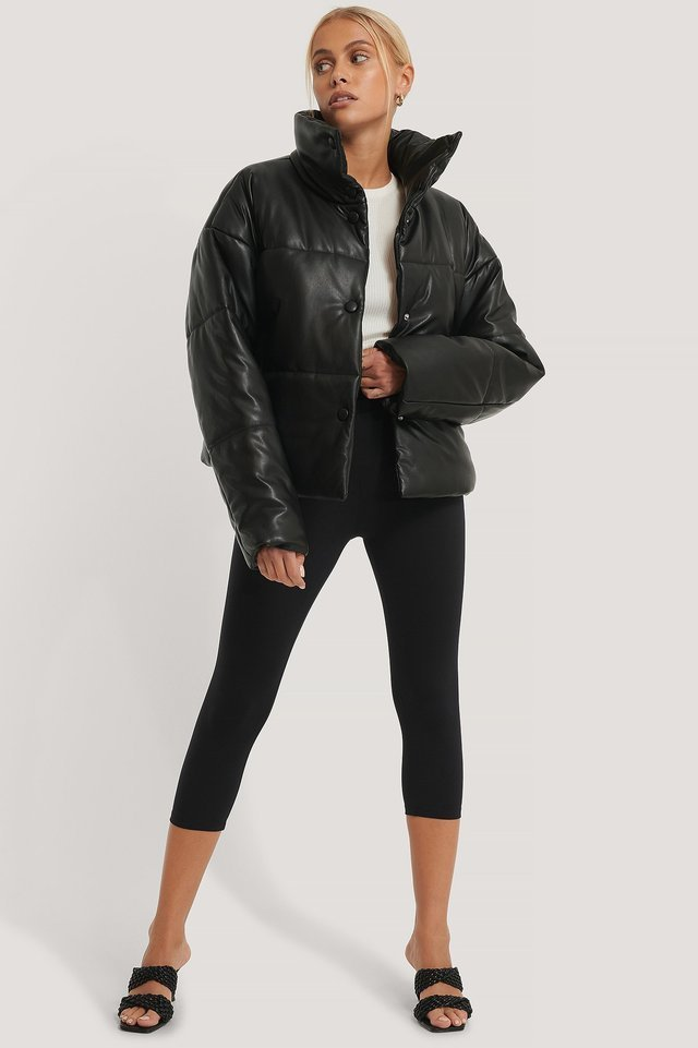 PU Padded Jacket Outfit.