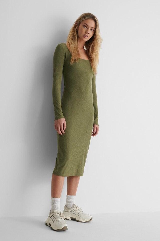 Round Neck Rib Dress