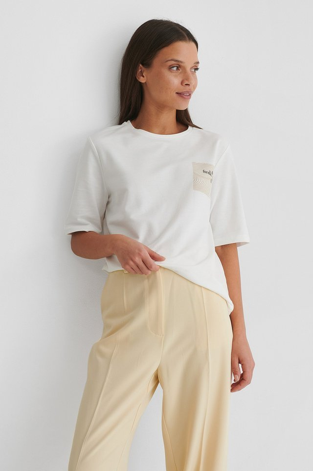 Boxy Cotton T-shirt Outfit.