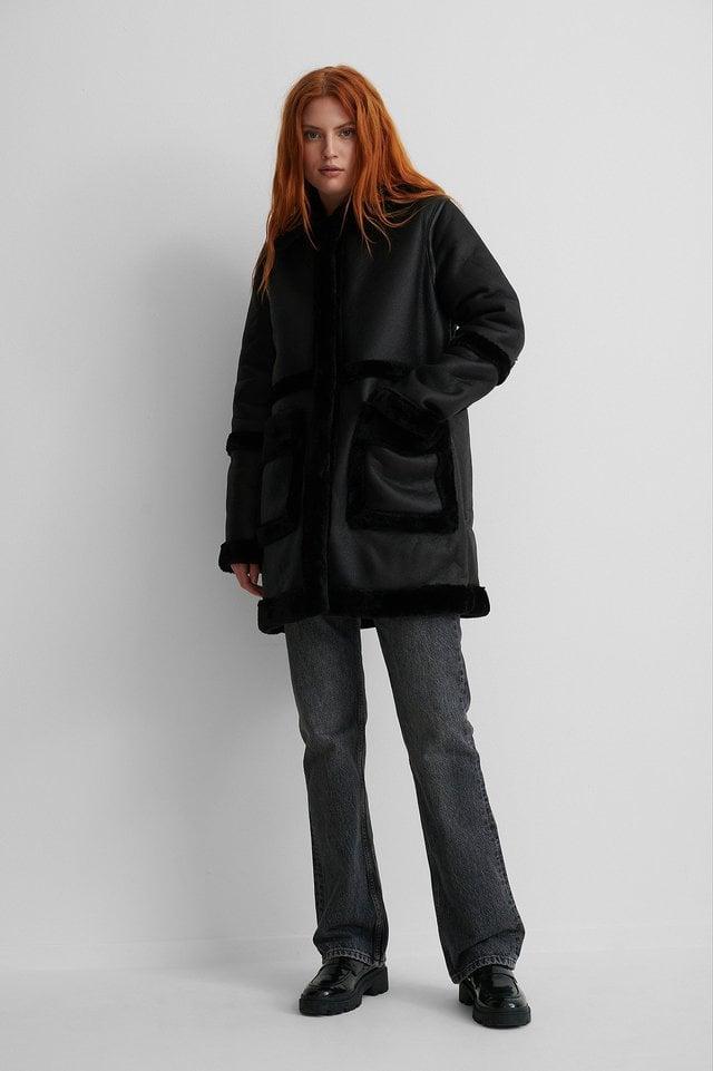 Bonded Long Coat Black.