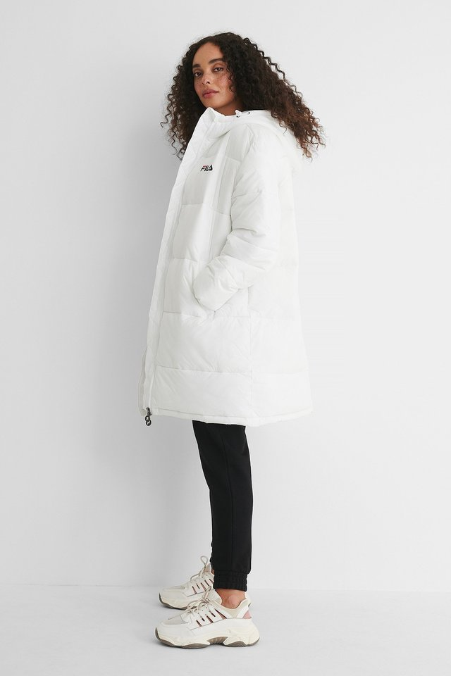 Bronwen Puff Hood Jacket White.