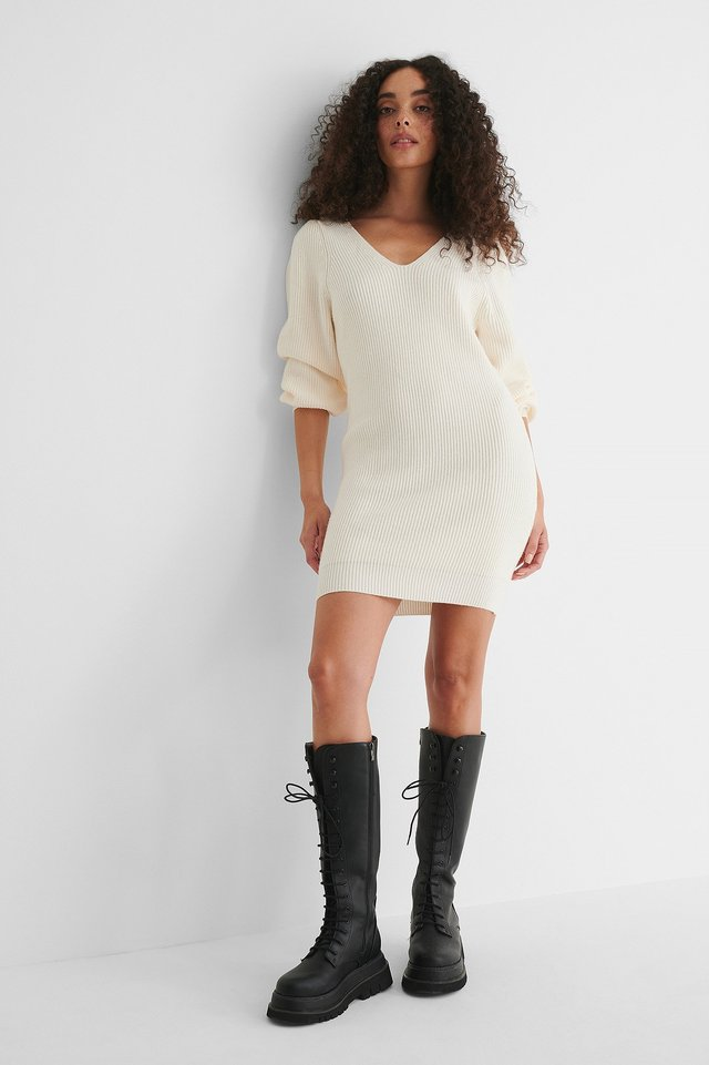Sayn Knitted Dress Outfit.