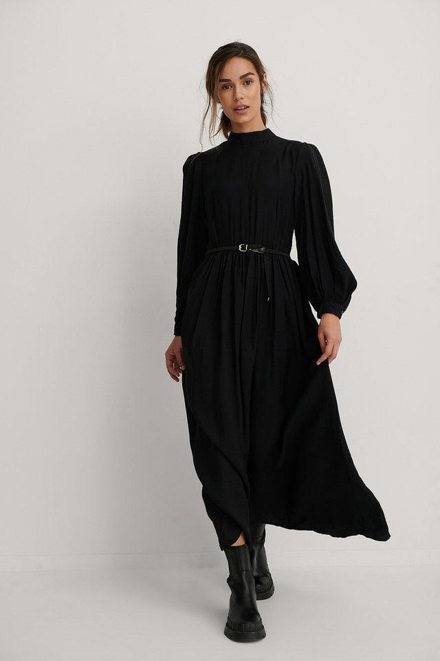 Carmen Belt Long Dress Outfit.