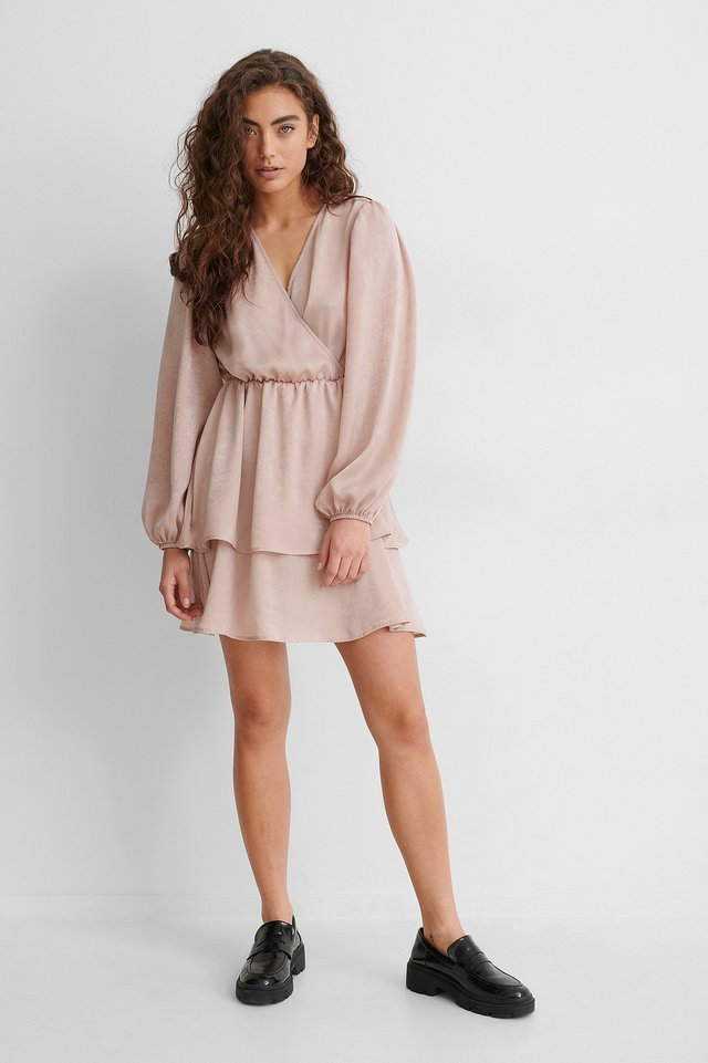 Drapey V-Neck Dress Outfit.