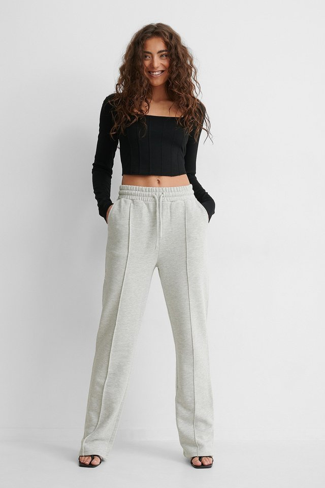 Straight Sweatpants Outfit!