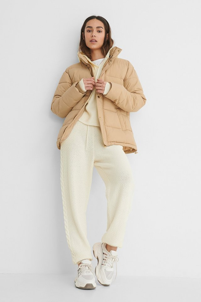 Padded Jacket Beige.