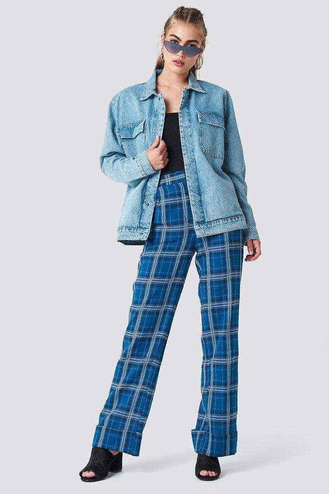 Denim & Checkered Outfit