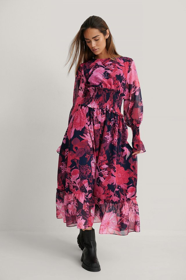 Smock Volume Dress Outfit.