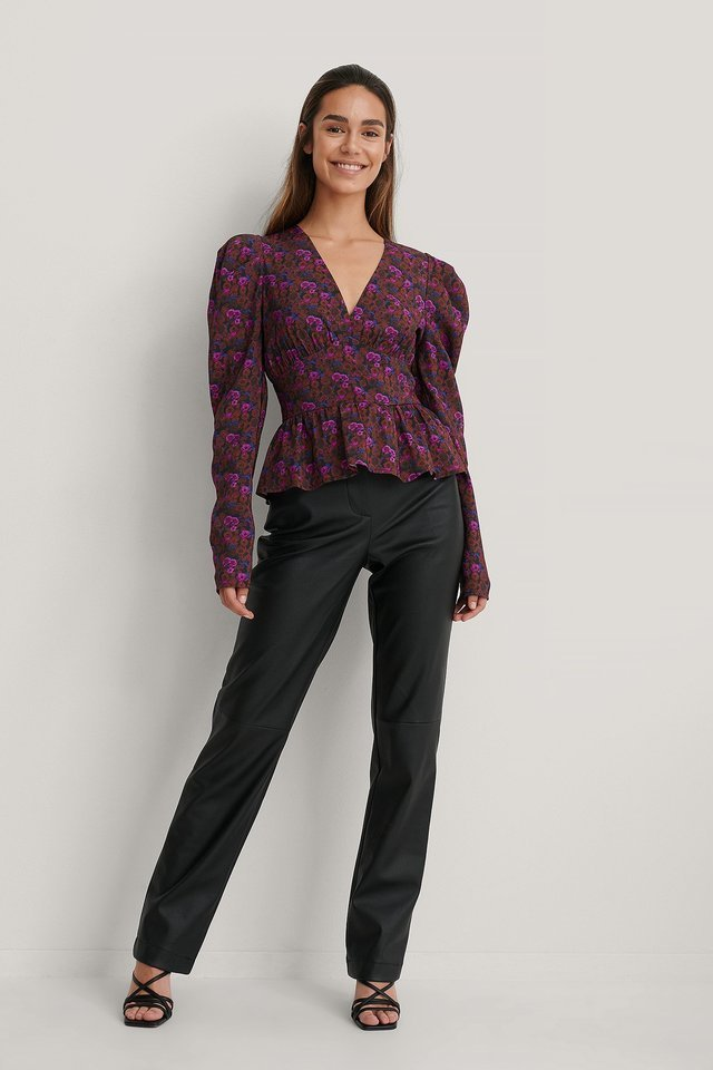 Waist Detail Blouse Outfit.