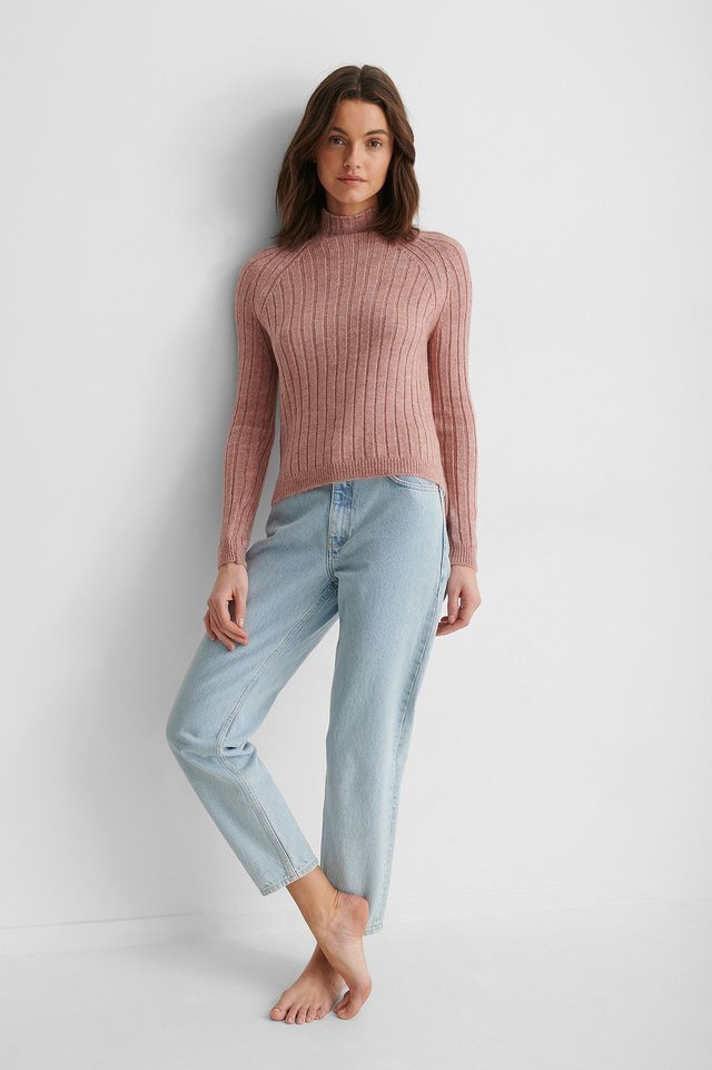 Turtleneck Knit Sweater Outfit.