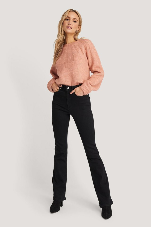 Skinny Bootcut Jeans Outfit.