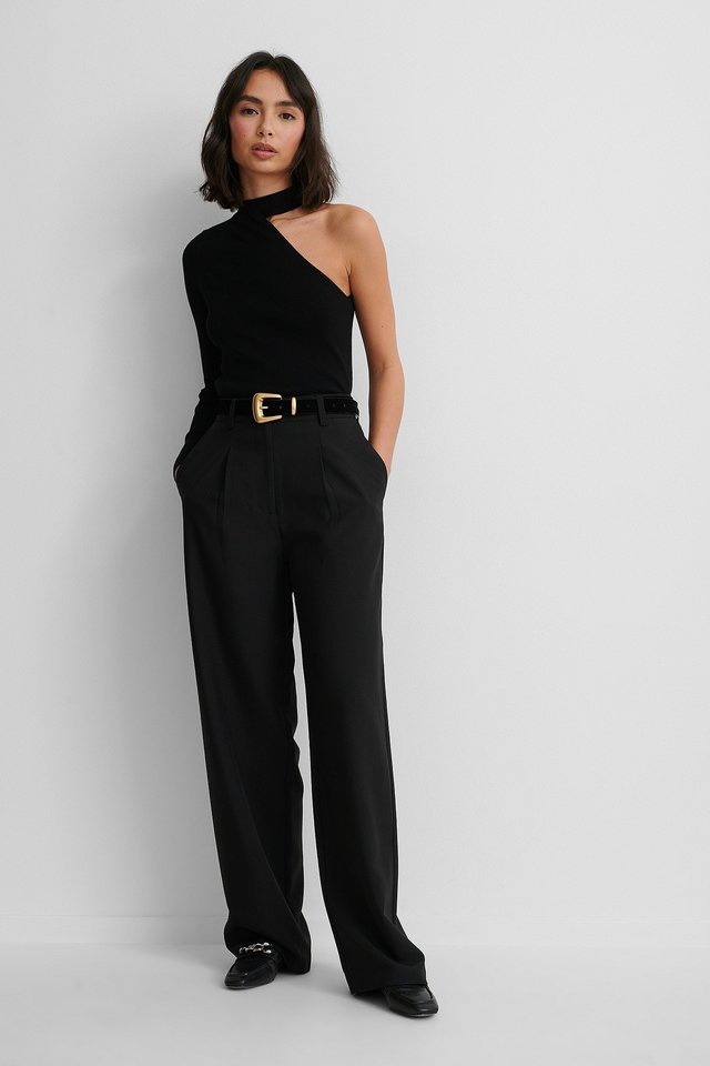 Barbara Sweater with Suit Pants.