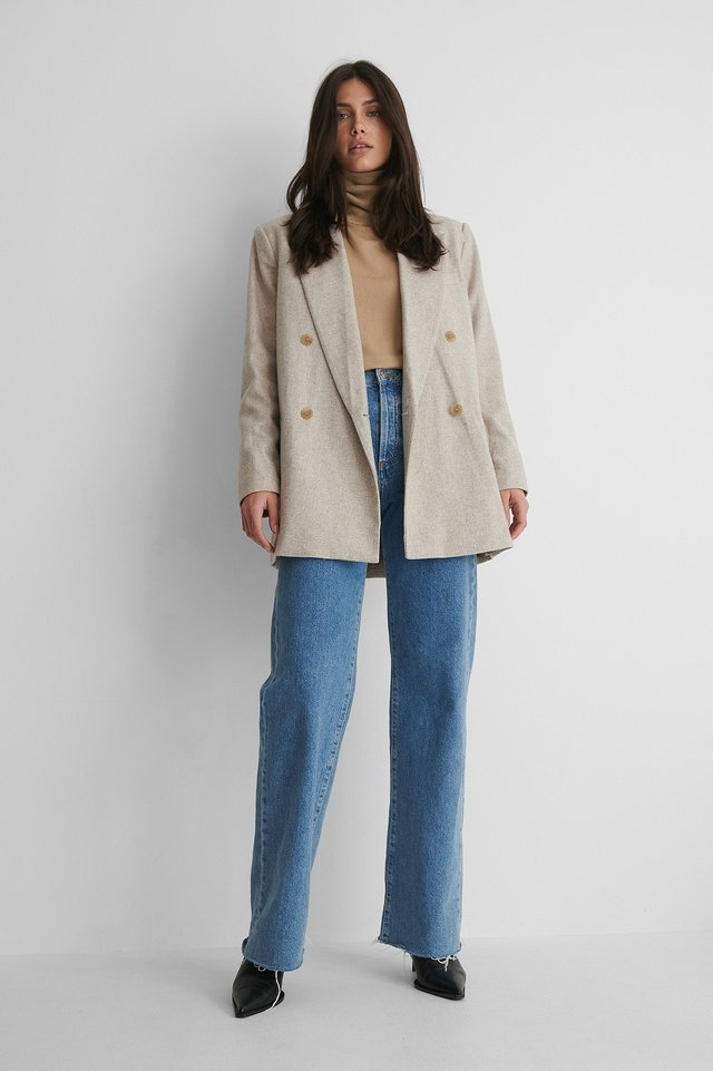 Olaf Blazer with Jeans and Heels.