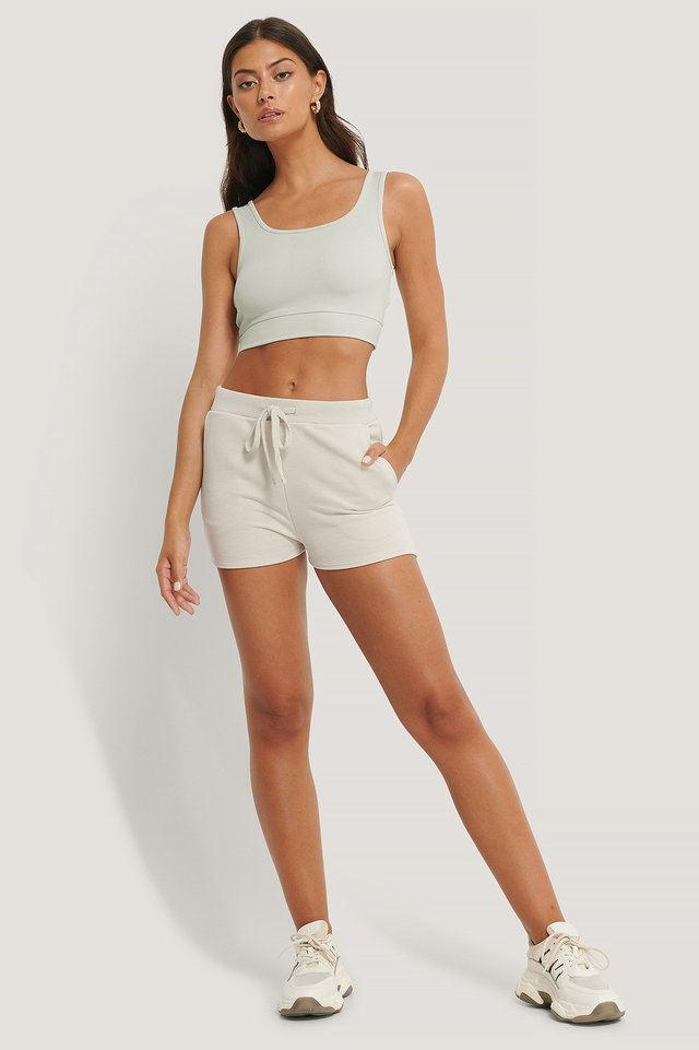 Organic Jersey Shorts Outfit.