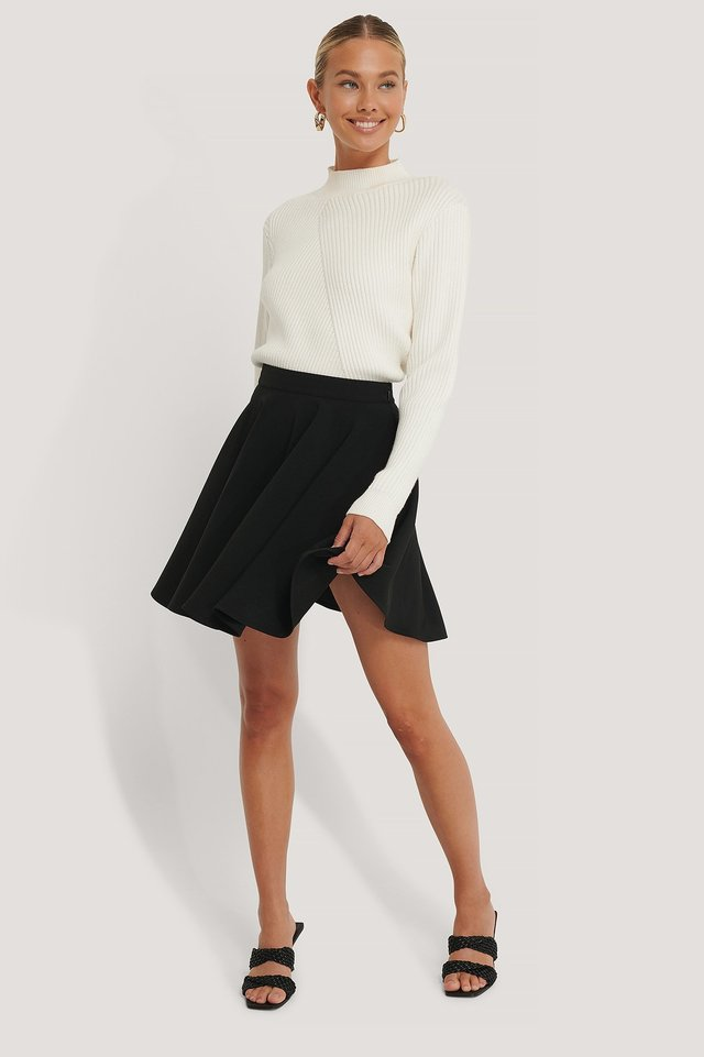 Mini Circle Skirt Outfit.