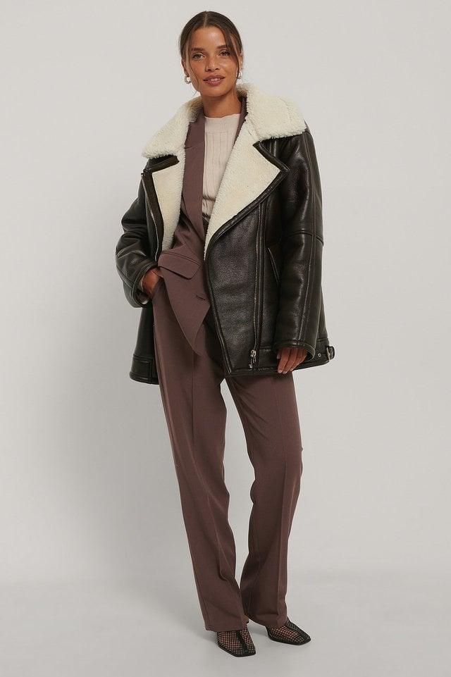 Oversized Bonded Jacket Outfit.