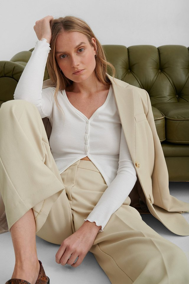 Babylock Front Split Cardigan Outfit.