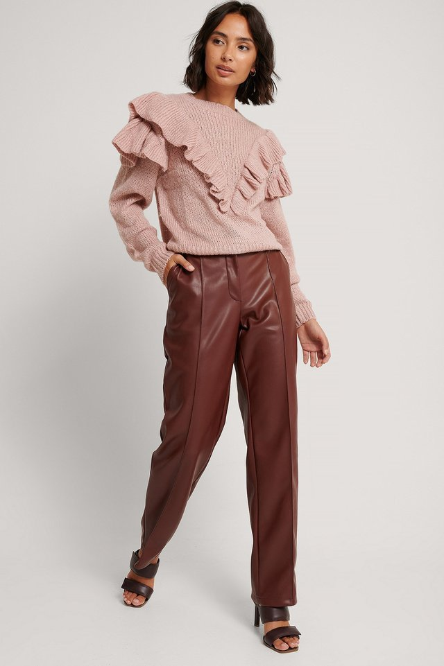 Nina Frill Knit Outfit.