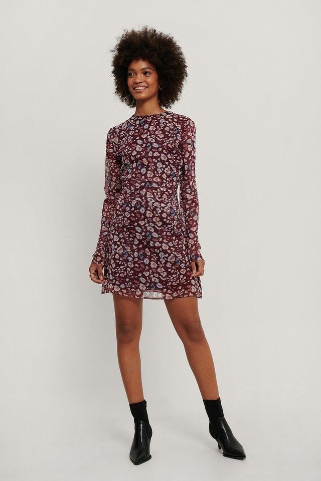 Chiffon Mini Dress Outfit.