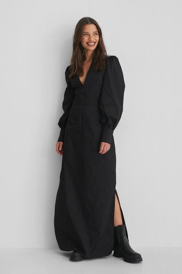 V-Neck Maxi Dress Outfit.