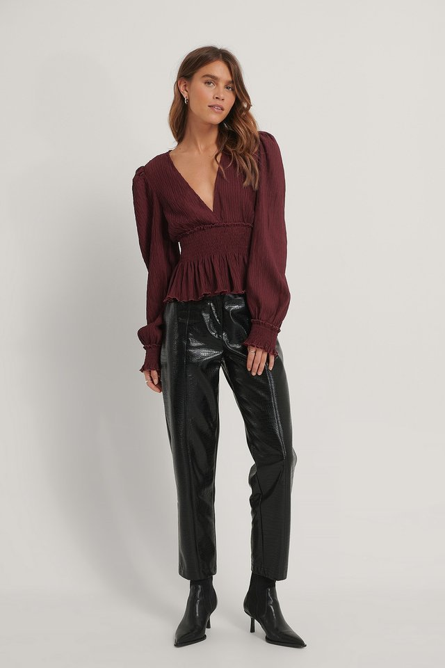 Structured Smock Blouse Outfit.