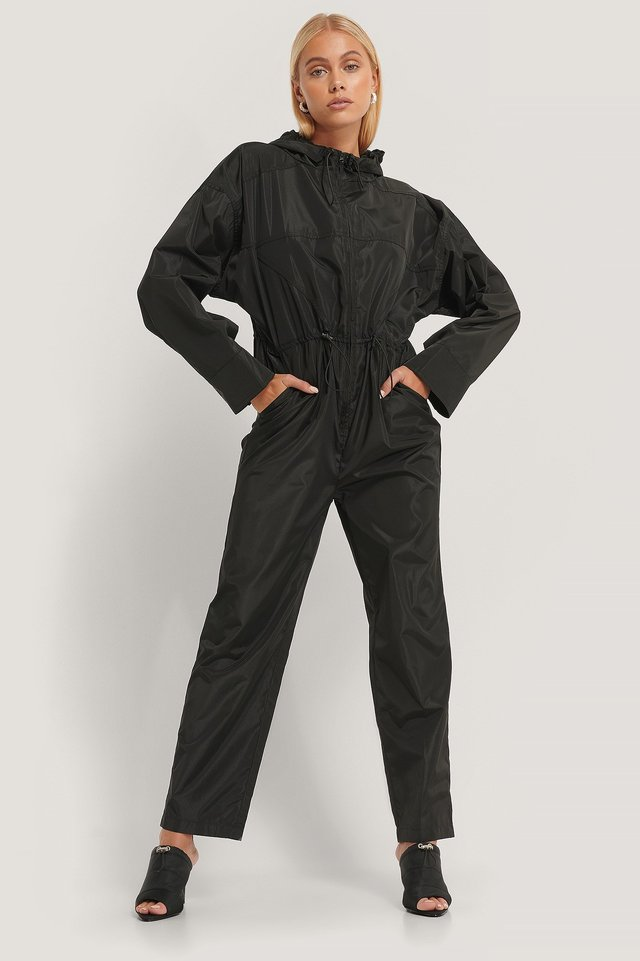 Track Jumpsuit Outfit.
