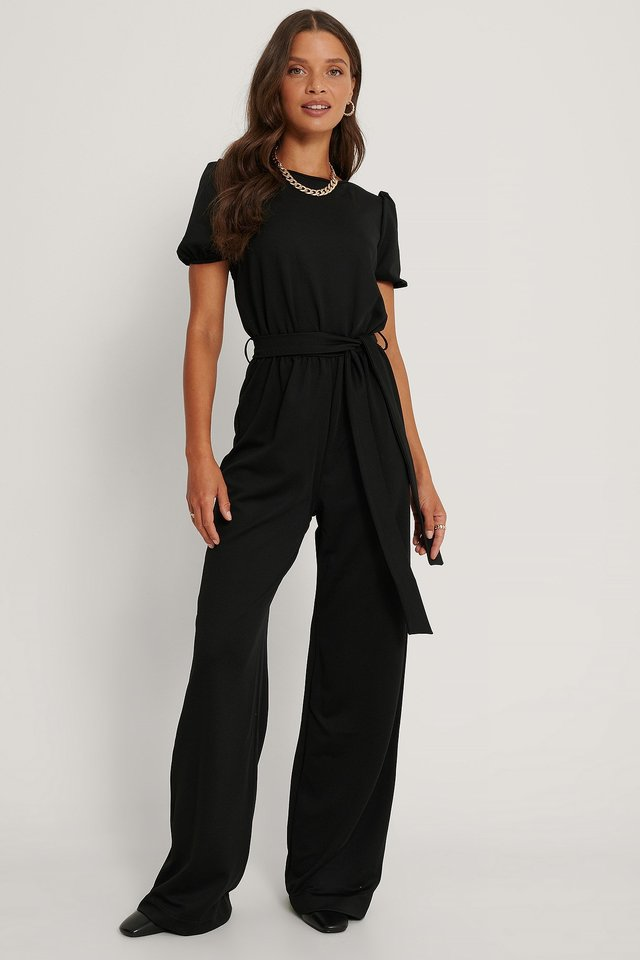 Tie Detailed Jumpsuit Outfit.