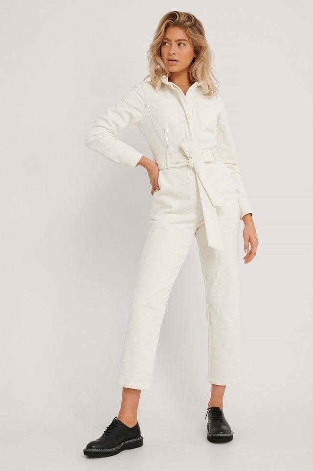 Corduroy Jumpsuit Outfit.