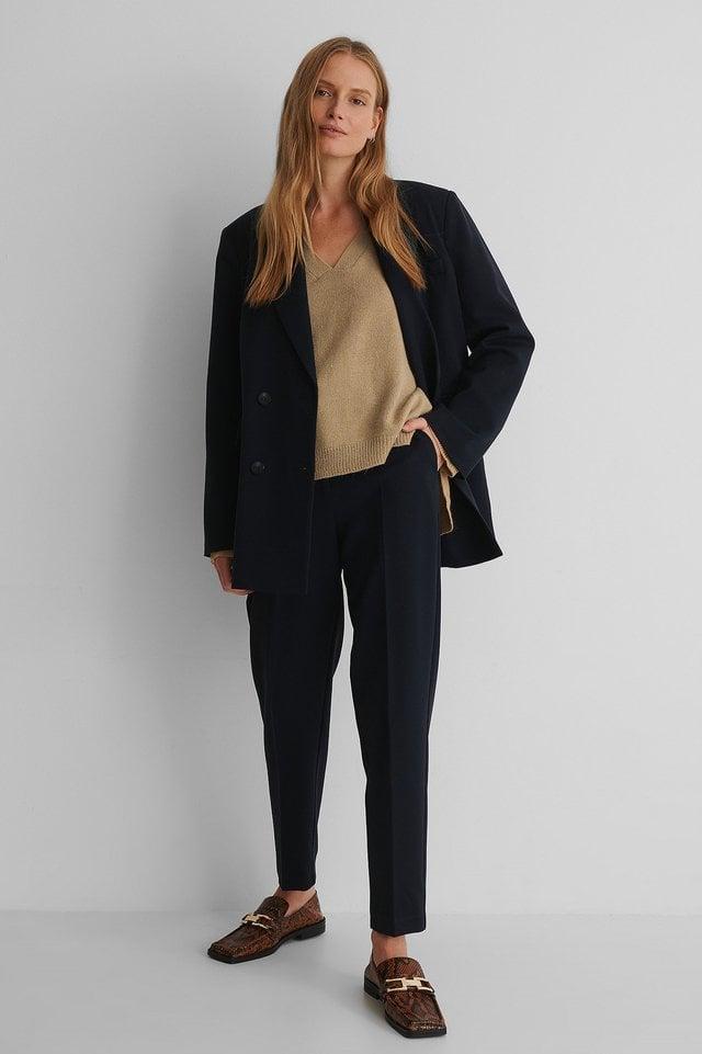 Emelie V Neck Knit Outfit.