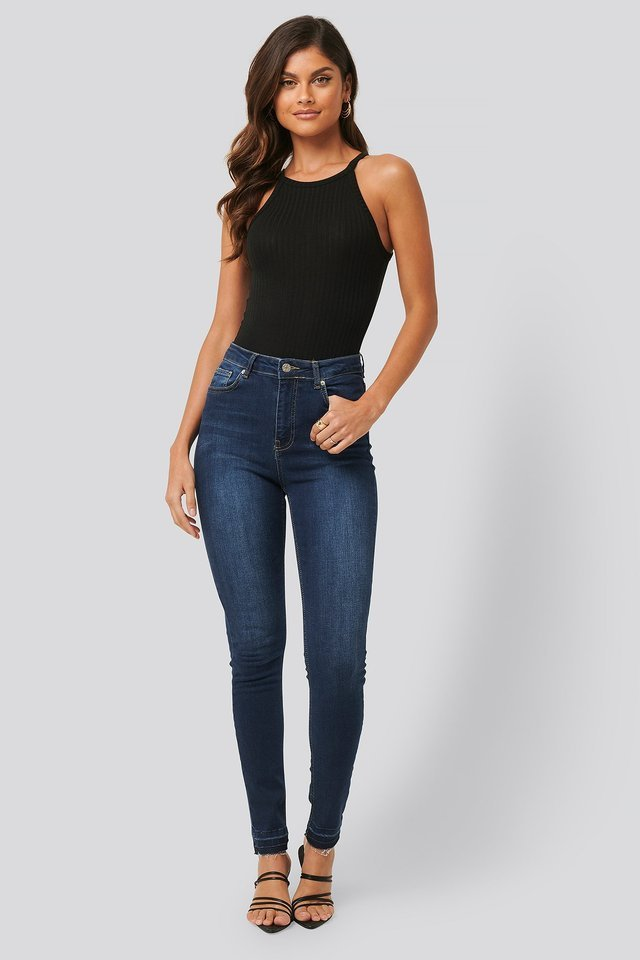 High Neck Ribbed Body Outfit.