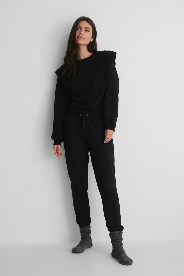 Shoulder Detail Sweatshirt Outfit.