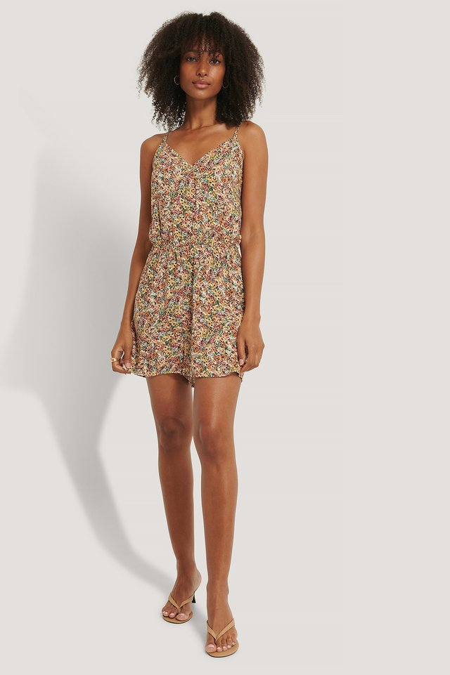 Flower Playsuit Outfit.