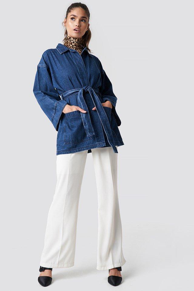 Denim Kimono Outfit