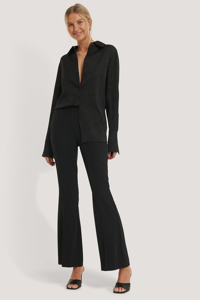 Flared Tailored Suit Pants Outfit.