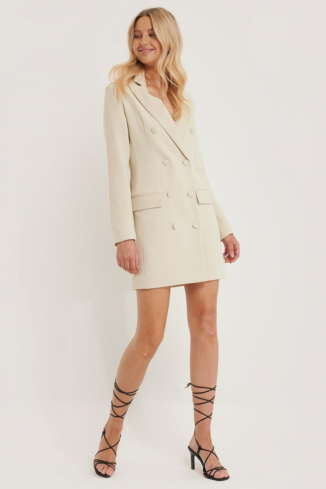Tailored Blazer Dress Outfit.