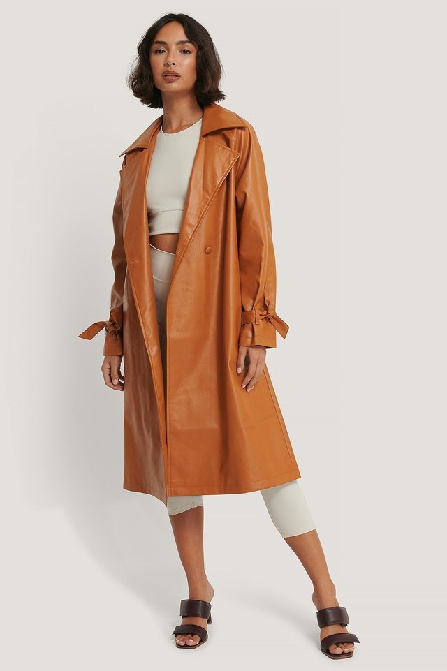 PU Trench Coat.