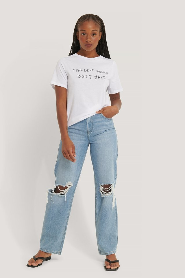 Women Don't Hate Tee Outfit.