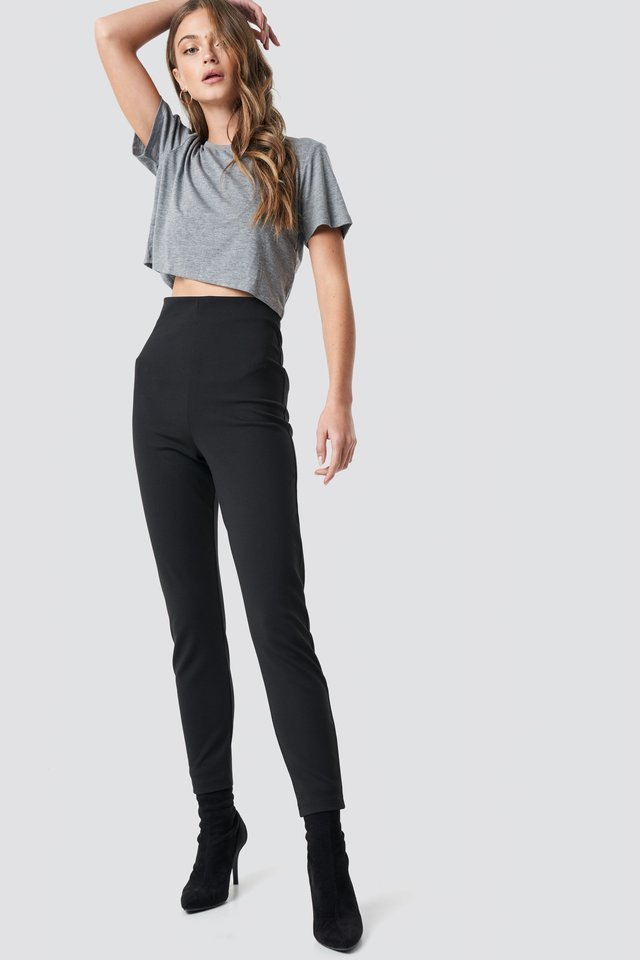 Viscose Cropped Tee Outfit.