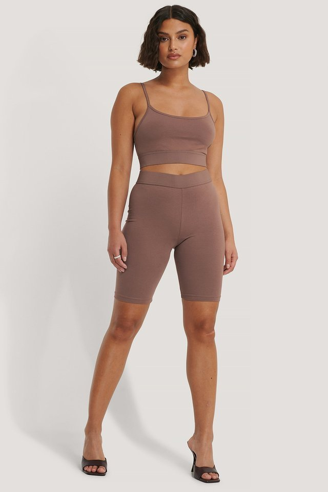 Organic Slim Short Tights Outfit.